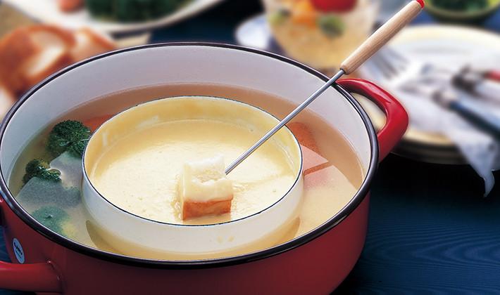 たっぷり温野菜のチーズフォンデュ