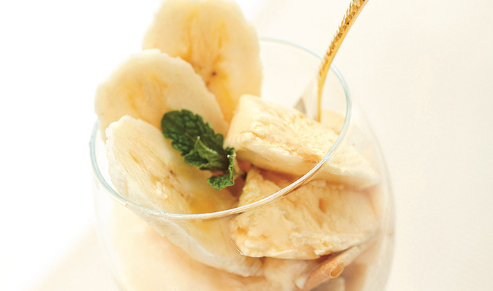 黒糖梅酒バナナカスタードパフェ